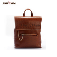 FIREBIRD 100 Cow Leather Genuine Leather Backpack For Women Preppy Style School Laptop Backpack 4 Colors
