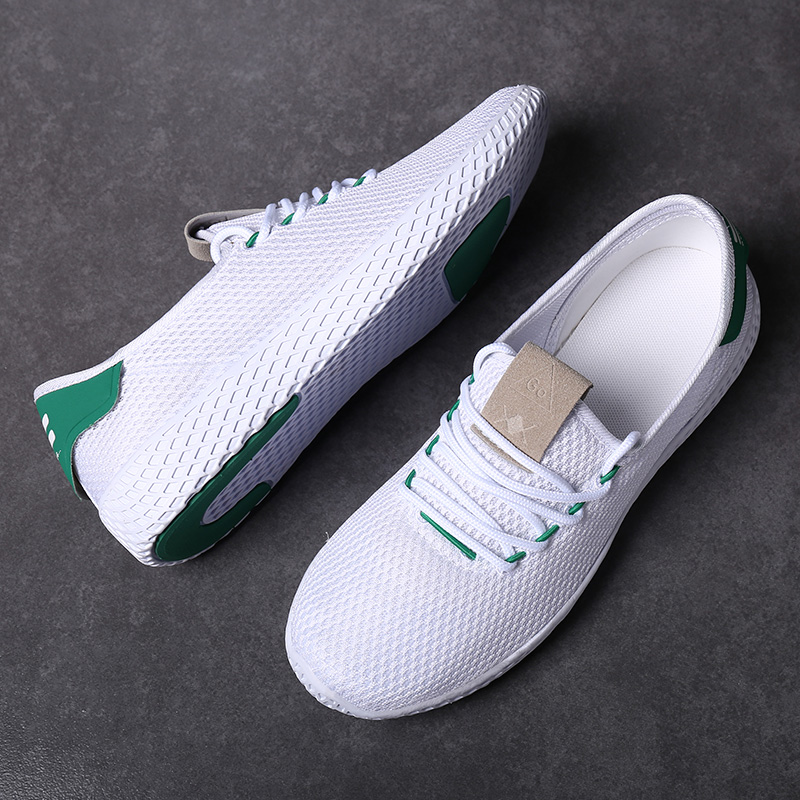 Summer Lightweight Breathable Men Casual Shoes Solid White Cheap Sport Shoes Air Mesh Low Cut Sneakers Mens Trainers Zapatillas