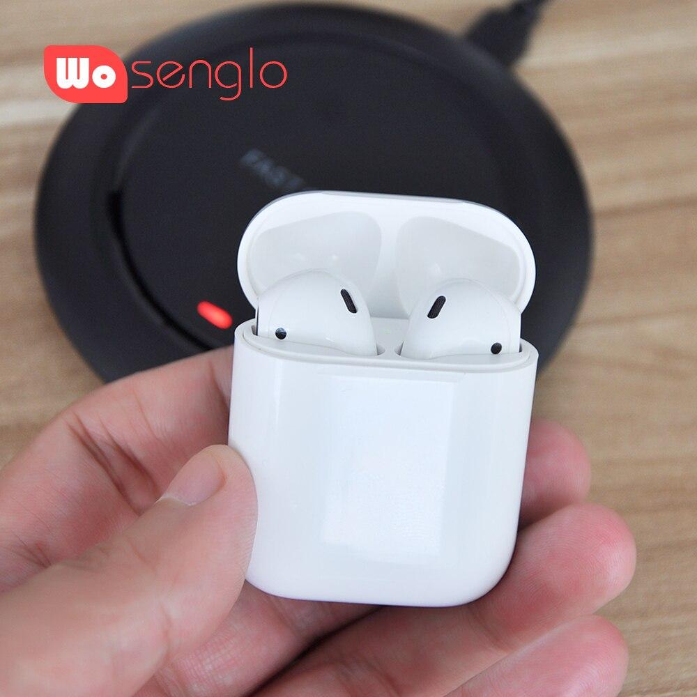 Wosenglo i60 TWS casque sans fil Bluetooth 5.0 HIFI son écouteur prend en Charge la Charge sans fil avec boîte de Charge pour Smartphone