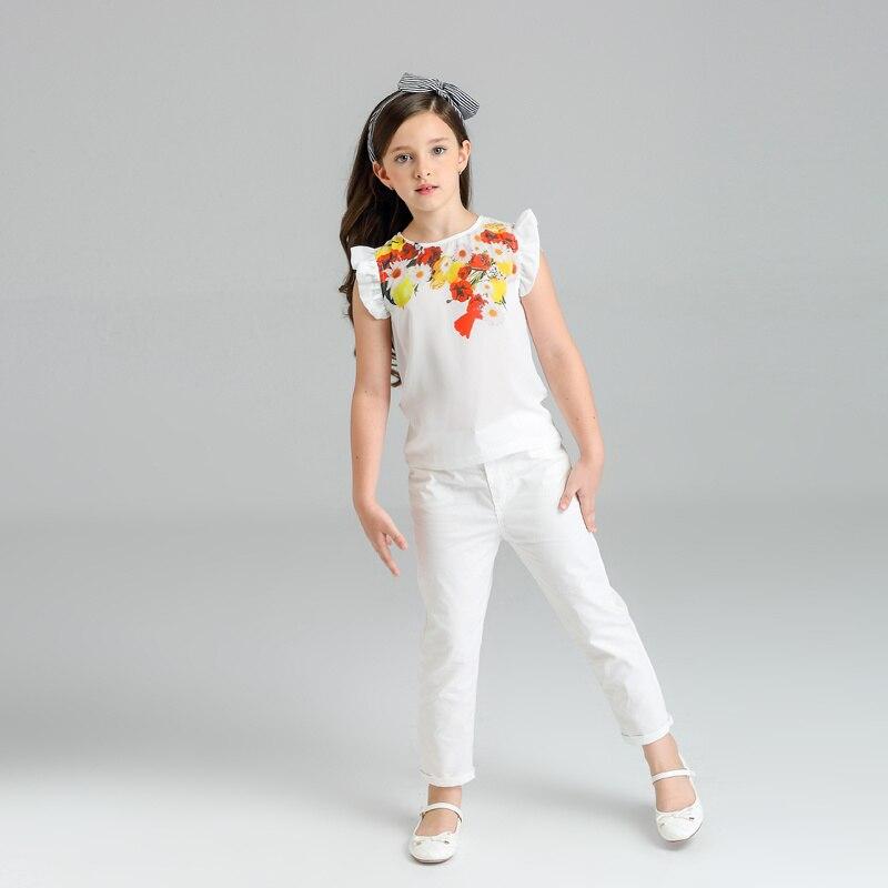2 Stücke Baby Mädchen Kleidung Sets Kinder Mädchen Kleidung Zitrone Blumendruck Sleeveless T-shirt Tops Hosen Outfit Kinder Kleidung Dauerhaft Im Einsatz