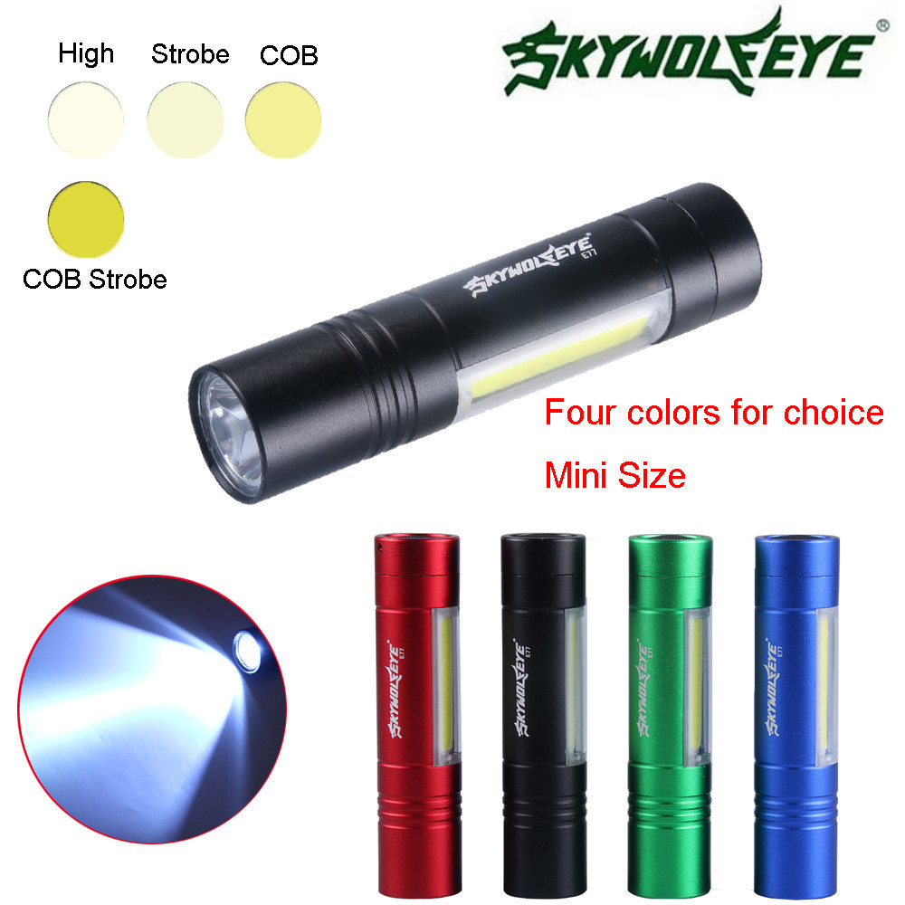 Led Flashlights Realistic 2018 New High Quality Outdoor Xpe+smd 4 Modes Cob Led Flashlight Aa/14500 Torch Super Bright Flashlights Drop Shipping Pretty And Colorful