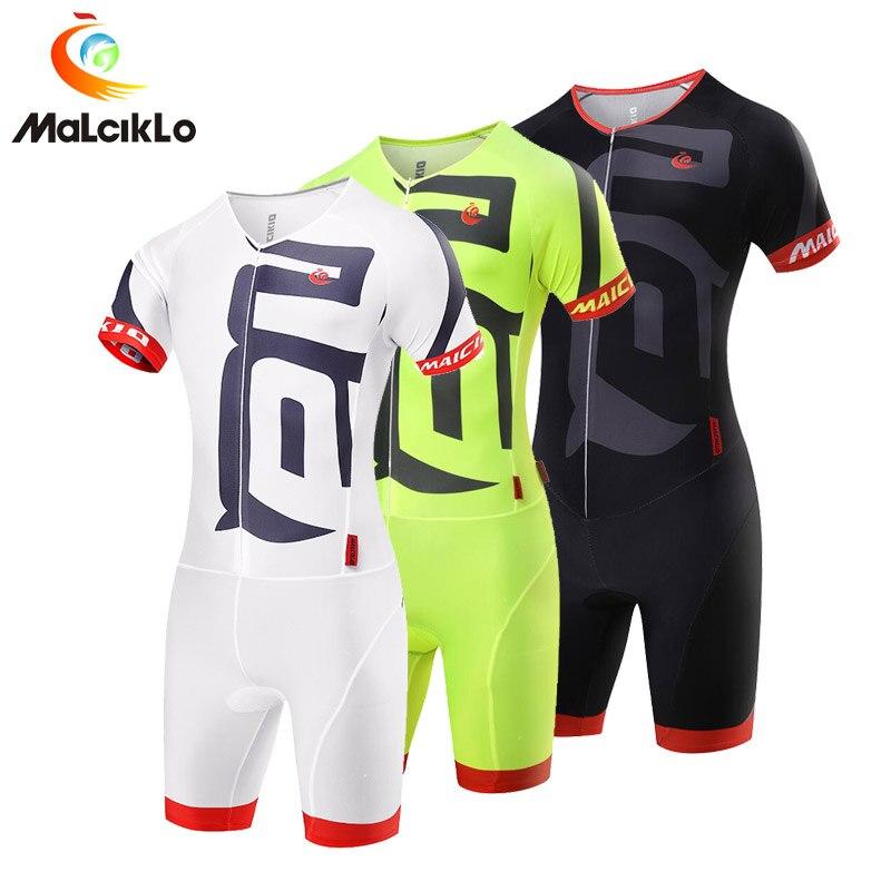 Prix pour Malciklo 2017 Vente Chaude Hommes Vélo Définit Ropa Ciclismo Pro maillots De Vêtements De Cyclisme Costume Salopette Skinsuit Vélo Triathlon Sport