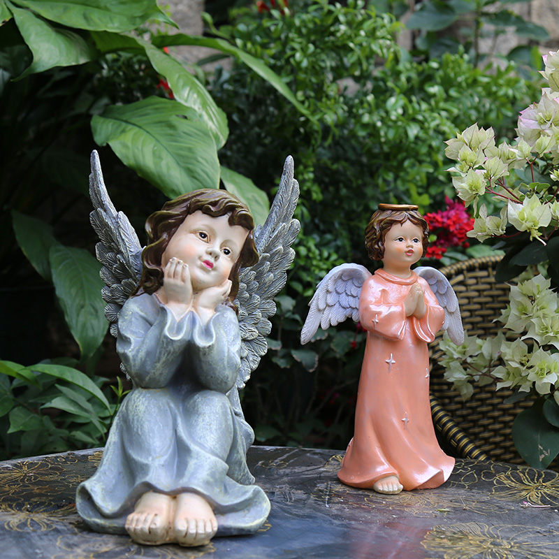 Christmas Statue Decorations: Praying Angel Statue Handicraft Decorations Christmas