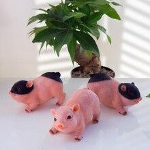 Modern cute Animal resin pigs creative miniature Figurine Craft teraryum fairy garden miniatures Mini home decor tabletop