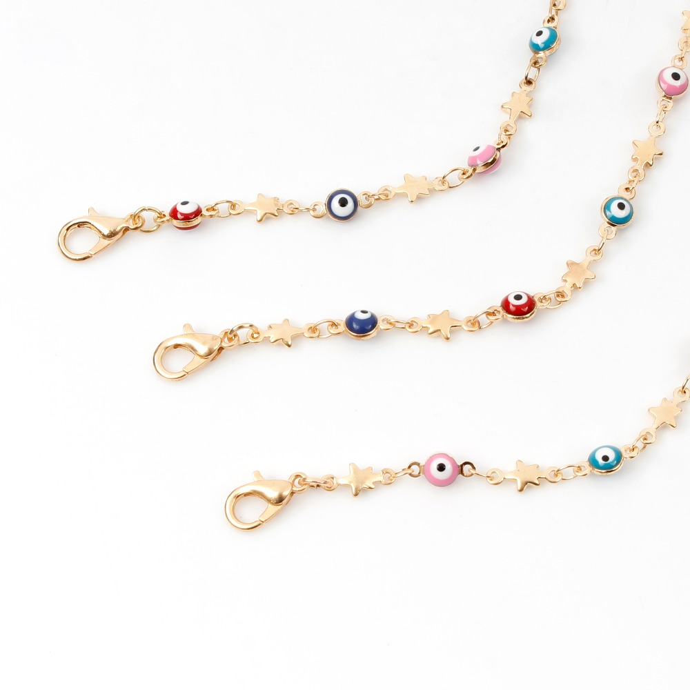 Fashion Jewelry Star Evil Eye Choker Necklace For Women Collier Oeil Necklace Charm Chain Necklace Handmade Collares Colar in Choker Necklaces from Jewelry Accessories