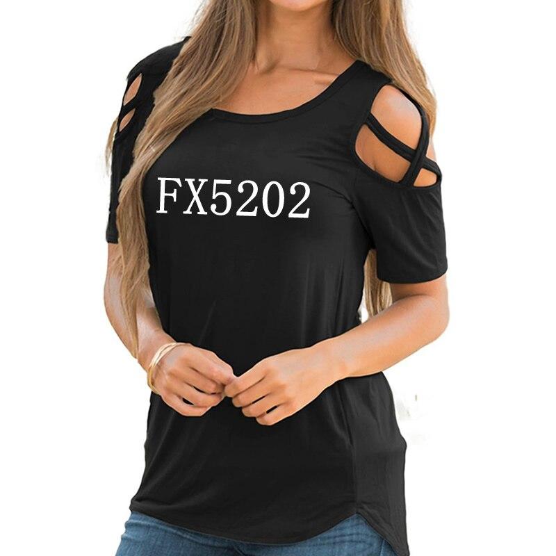 Camiseta de algodón Casual de talla grande con estampado de fe nueva moda 2018 recortada divertida Camiseta de mujer con cuello redondo