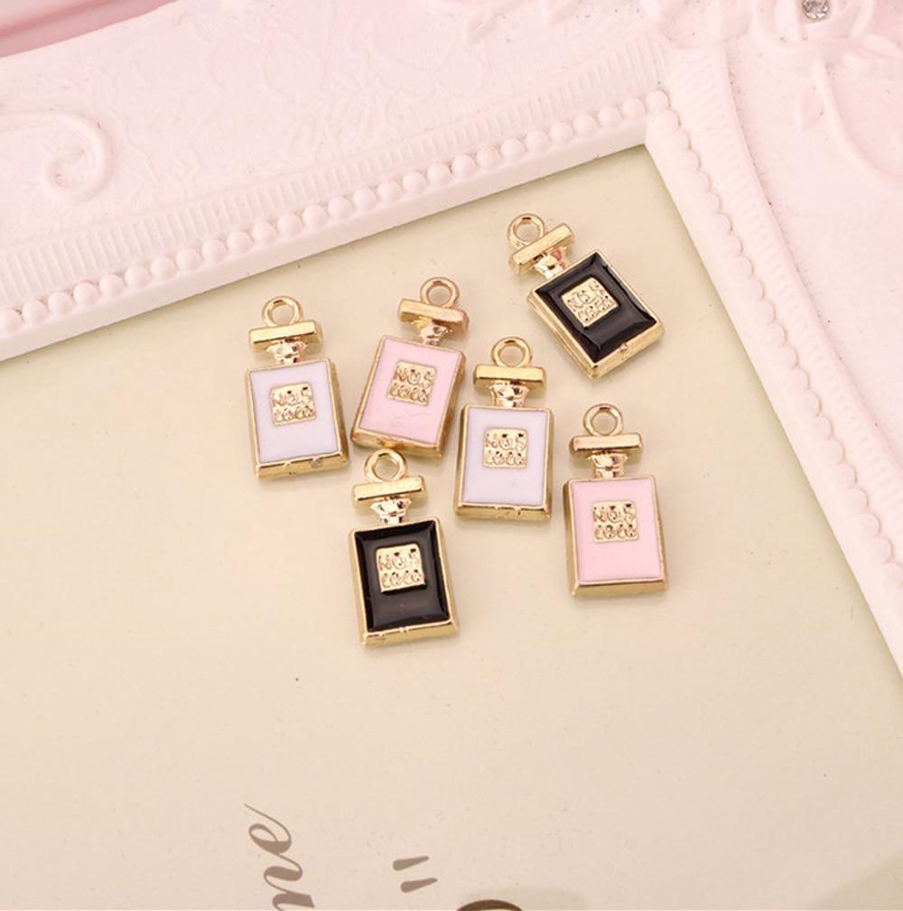 10 Pcs Großhandel Parfüm Flasche Schwimm Emaille Zink-legierung Charme Diy Armband Halskette Schmuck Zubehör Weibliche Diy Handwerk