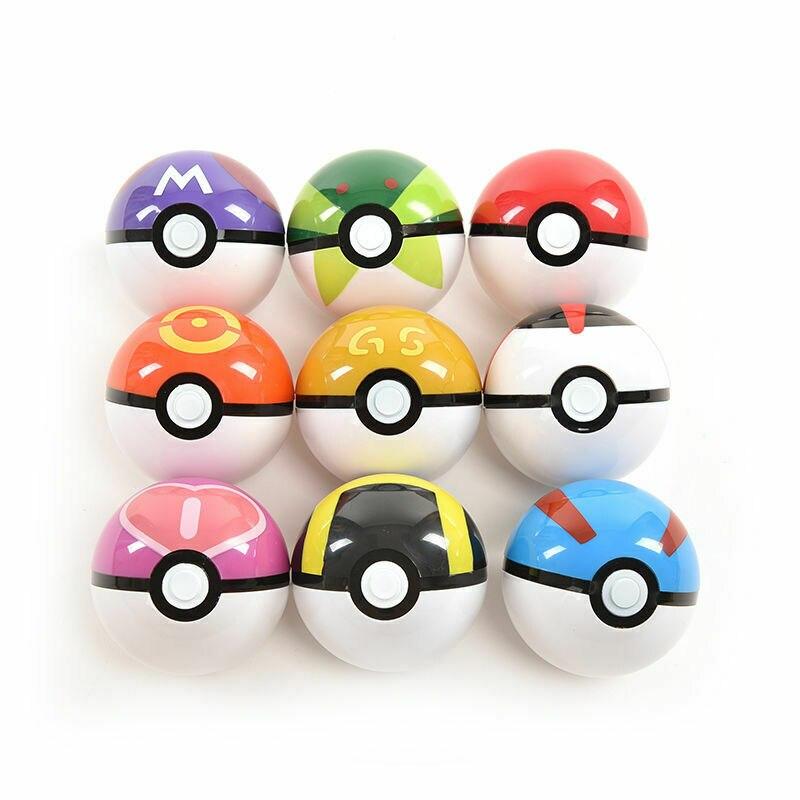 2019 Pokemon Pikachu Pokeball Cosplay Pop-up Poke Ball New Kids Toy Creative 7cm Cool Collection Children Birthday Gift Hot Sale