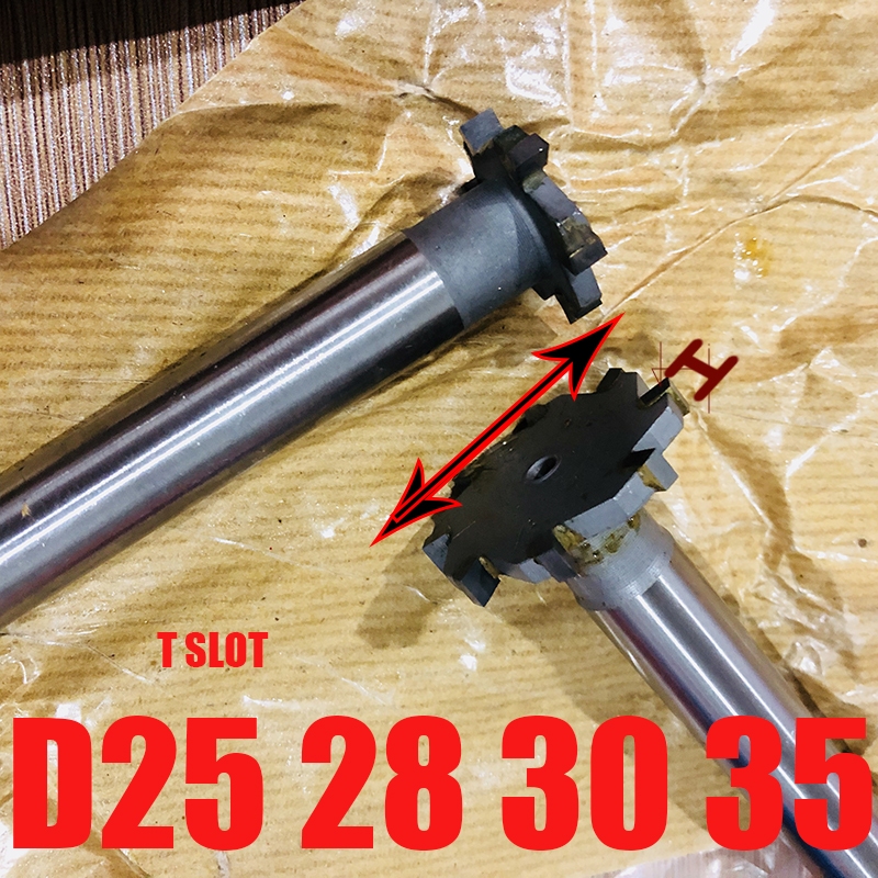 Carbide Tipped T Slot Cutter, Welding Carbide T Cutter, Welded Carbide T Cutter25 28mm*2,3,4,5,6,7,8,9,10,12,14mm