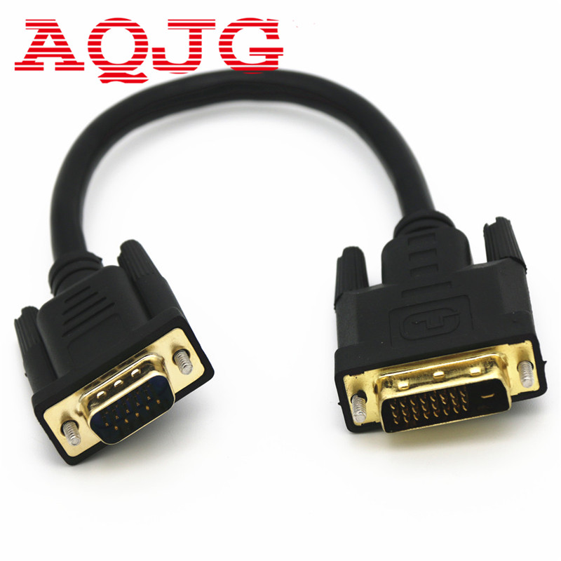 Hot Sale Full HD 1080P DVI-D 24+1 to VGA HDTV Converter Monitor Cable for PC Display Card High Quality new 1080p active dvi d 24 1 male to vga 15pin hdtv female monitor adapter connector cable for pc display card em88