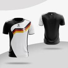 Camisa de badminton respirável de secagem rápida do esporte da aptidão do exercício do treinamento do jogo da equipe do tênis de mesa