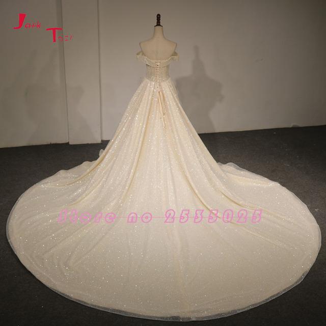 Off The Shoulder Short Sleeve Lace Up Light Champagne Vintage China Bridal Wedding Dress Mariage