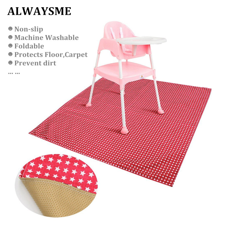 Alwaysme Baby Kids High Chairs Floor Protector Splat Mat Playingmat For Playing Feeding Baby Booster Seats Mat Feeding Chair Mat
