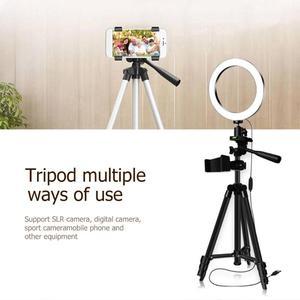 Image 5 - Anel luz de preenchimento pode ser escurecido led estúdio câmera luz de vídeo anular lâmpada com tripé telefone clipe para smartphone selfie ao vivo mostrar