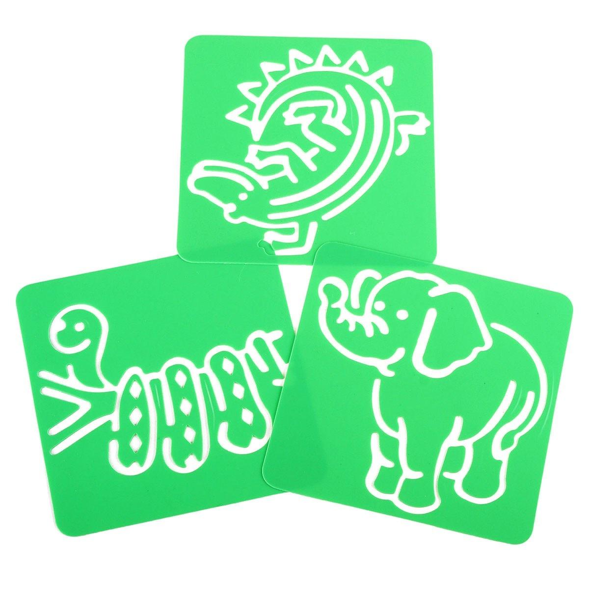 12pcs set washable plastic children u0027s drawing template board