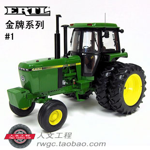 KNL HOBBY J Deere 4450 farm tractor alloy car models US ERTL 1:16 Gold Gifts gifts 1 32 ros fiatagri g240 tractor models alloy car models favorites model