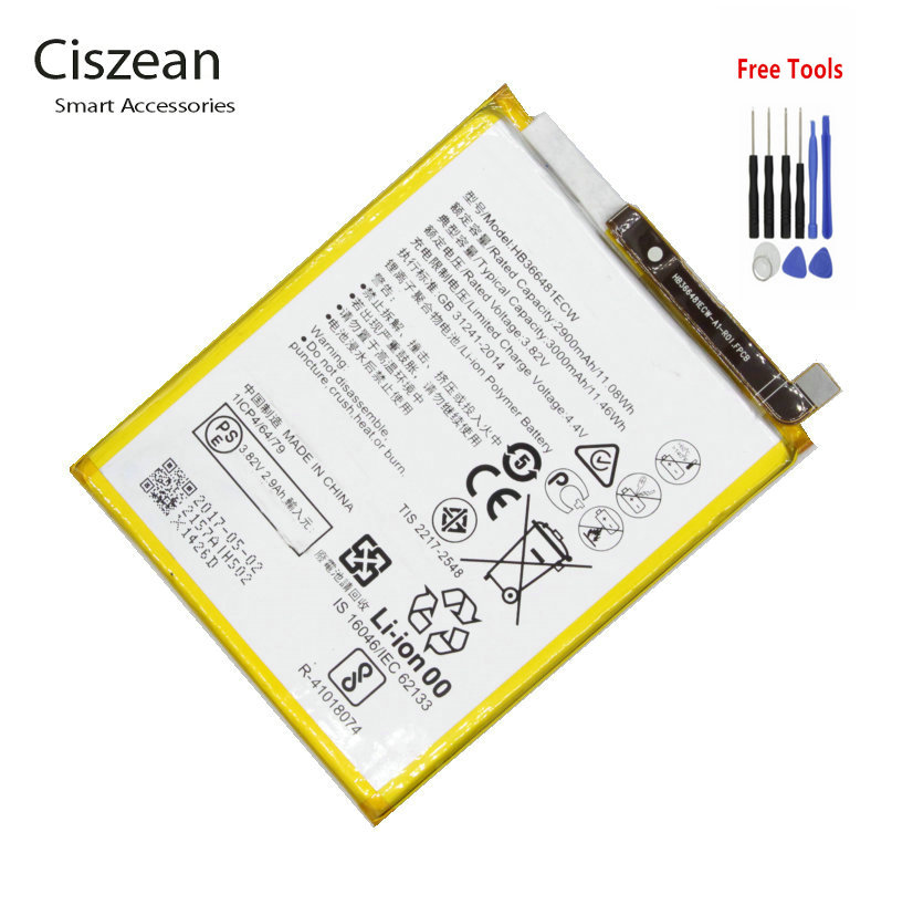 Replacement Battery P9-Lite Huawei HB366481ECW Honor 8 For G9 5C Vns-Dl00/vns-L23 Bateria