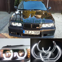 White Crystal DTM Style LED Angel Eyes Halo Rings Light kits for 1996 2000 BMW E36 3 Series Coupe and cabriolet Car styling