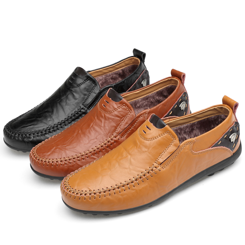 Casual Driving Shoes Men Genuine Leather Loafers Men Shoes Winter Men Loafers Luxury Brand Flats Shoes Men Chaussure Breathable for nissan teana altima 2013 2014 2015 abs chrome front bottom grill cover grilles trim cover car styling accessories