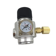 лучшая цена Homebrew CO2 Mini Gas Regulator 0~90Psi with 3/8