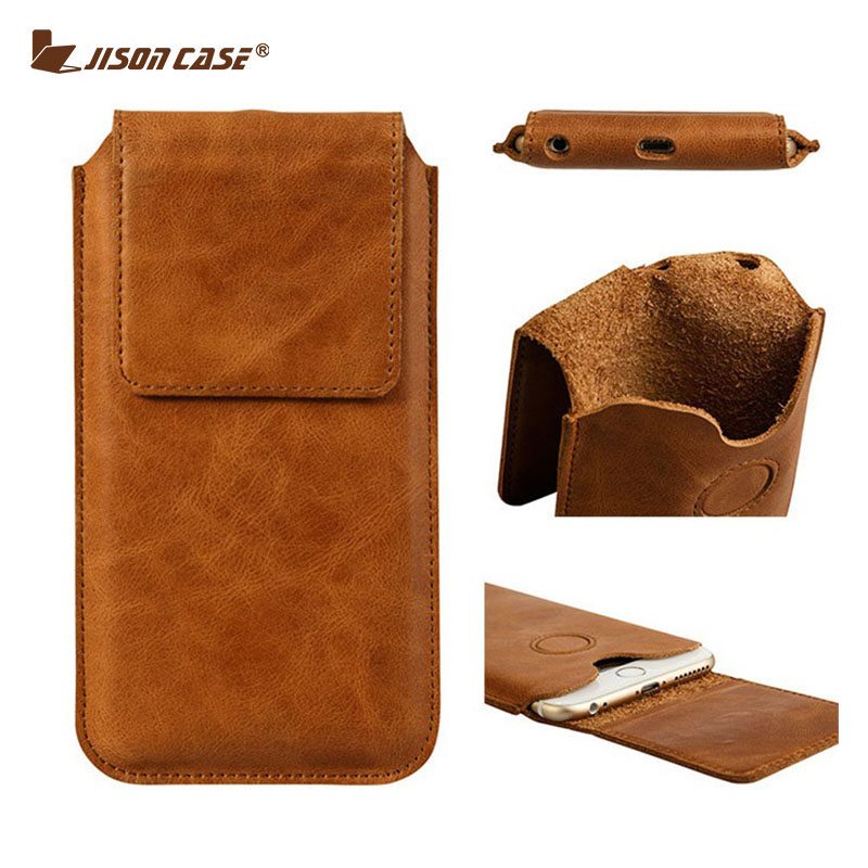 Jisoncase Phone Case For iPhone 7 7 Plus Bag Genuine Leather For iPhone 6s 6s Plus