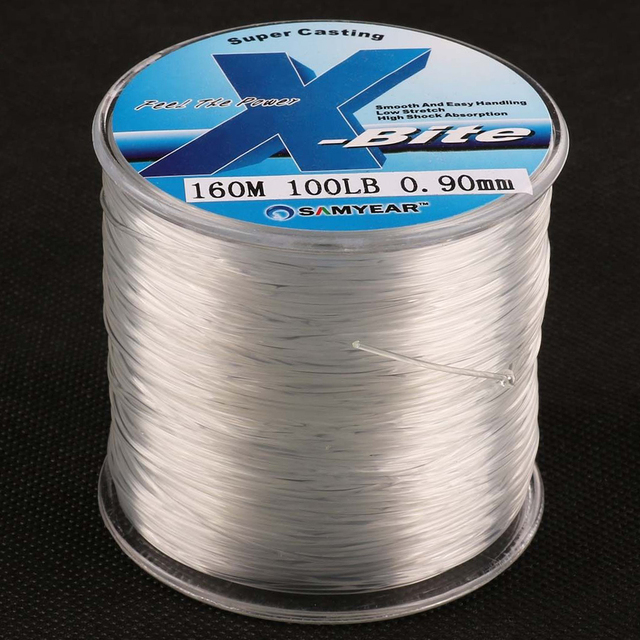 Best Quality 160m 100lb Nylon Monofilament Fishing Line Japan Material Clear Fishline for Carp Fishing Saltwater Fishing Wire