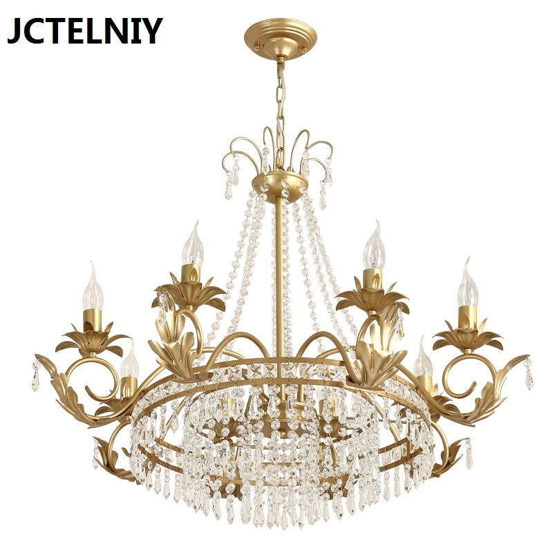 American crystal chandeliers living room restaurant luxury lamps LED crystal chandeliers Dia80cm