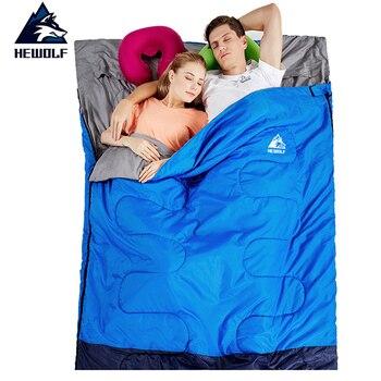 Двойной спальный мешок Hewolf 220*145 см, 3 сезона, для кемпинга, походов, палаток, конвертов, спальных мешков для влюбленных