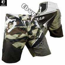 VSZAP Wolf Kick Boxing Shorts for Kickboxing Boxing Punching Grabbling Trunks Polyester short camouflage mma shorts muay thai