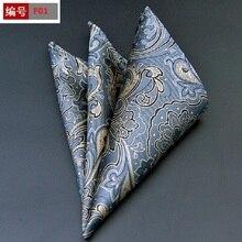 Pañuelo cuadrado de bolsillo de 100% algodón con lunares florales Estilo Vintage a la moda para hombre, accesorio de regalo para fiesta de graduación o boda