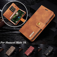DG MING Brand Luxury Leather Case For Huawei Mate 10 Detachable 2 In 1 Flip Card