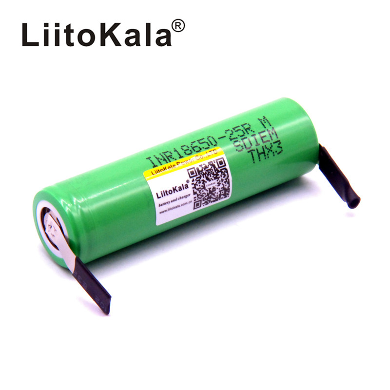 <font><b>LiitoKala</b></font> original <font><b>18650</b></font> 2500mAh Battery INR1865025R 3.6 V Discharge 20A Dedicated Battery Power + DIY Nickel image