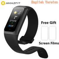 Original Amazfit Cor 2 Fitness Bracelet English Version 1.23 inch IPS Color Screen 5ATM Waterproof Pedometer Heart Rate Monitor