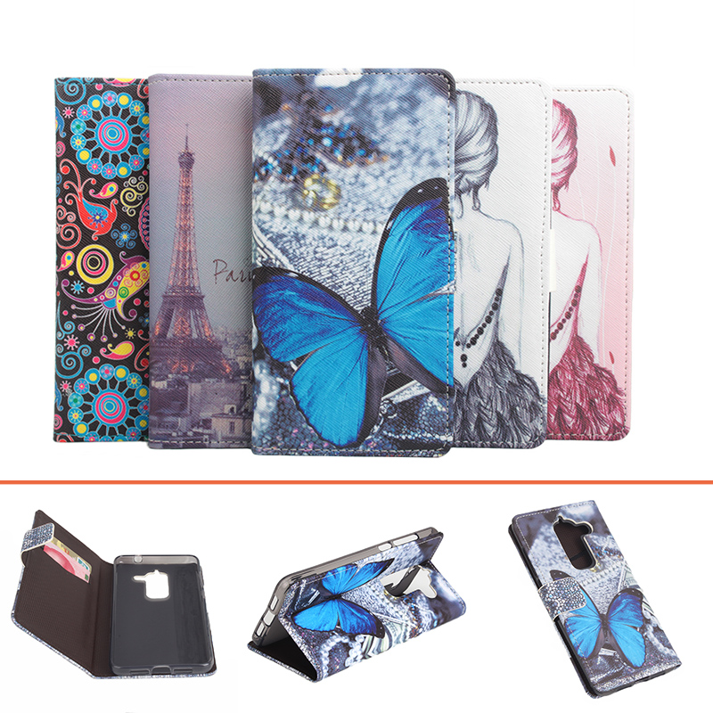 For Letv Max 2 Case fashion colored painting leather case flip protective case cover For Letv