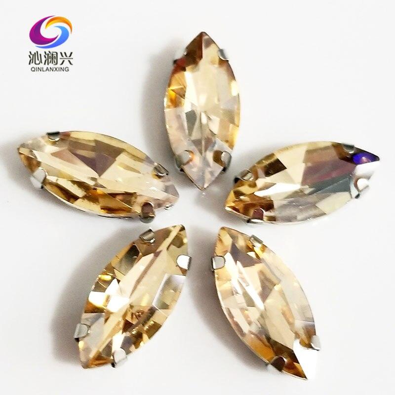 Livraison gratuite Golden champion Cheval forme des yeux Haute qualité En Verre Cristal coudre sur griffe strass, Bricolage Vêtements accessoires SWM05