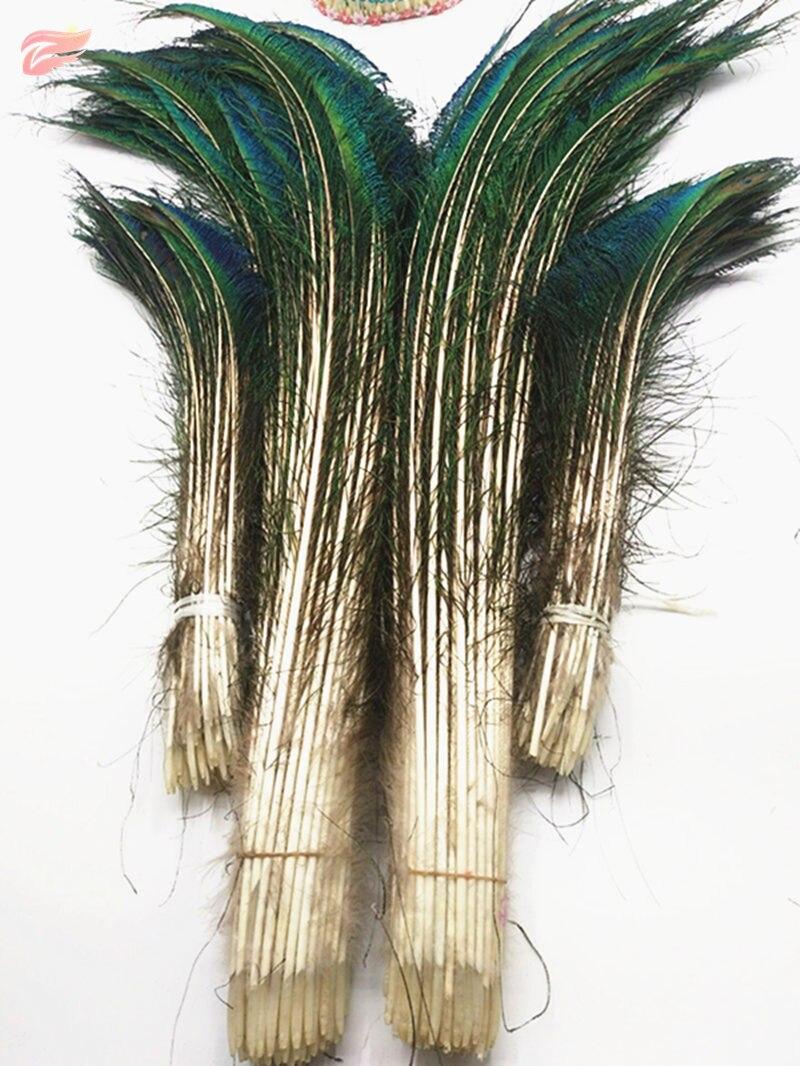 Plumas de pavo real naturales superiores al por mayor 50pcs-200pcs, - Artes, artesanía y costura