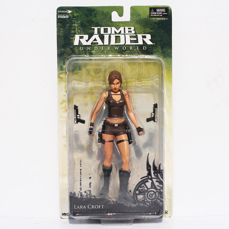 1Pcs NECA Tomb Raider Underworld Lara Croft PVC Action Figure 7 18CM New in Box Free Shipping game 26 cm rise of the tomb raider lara croft variant painted figure variant lara croft pvc action figure collectible model toy