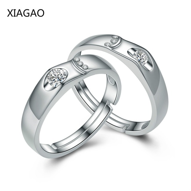 7176f97781 XIAGAO 2017 Simple Designer 925 Sterling Silver Couple Rings for Women Men Silver  925 jewelry Wedding