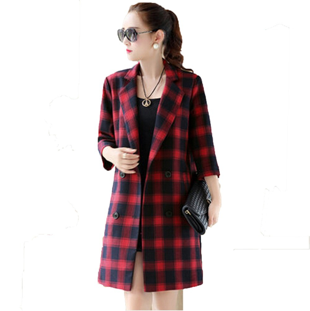 Online Get Cheap Plaid Trench -Aliexpress.com | Alibaba Group