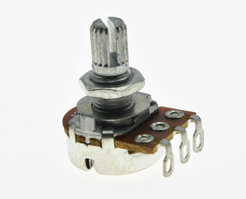 5x Audio 500K Guitar Mini Pots Short Split Shaft Potentiometers A500K
