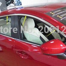 Накладка на верхнее окно для Mazda 3 Axela M3 4 двери 5 дверей 4 шт