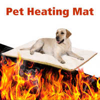 Dog Self Heating Pad Pet Warming Cushion Bed for Medium Large Dogs and Cats Reflects Pets Own Thermal with Zipper Washable