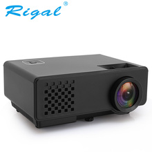 Rigal HD RD810 Mini Projector 1000Lumens Portable Mini LED Video Beamer RD-810 Video Game Home 3D Movie HDMI VGA USB Projector
