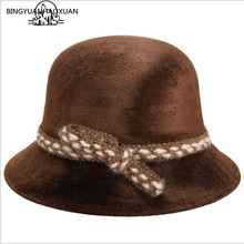 BINGYUANHAOXUAN Womens Gold velvet Sun Hat Autumn And Winter Fashion Floppy Caps Ladies Outdoor Solid Wool Visor Hats Woman