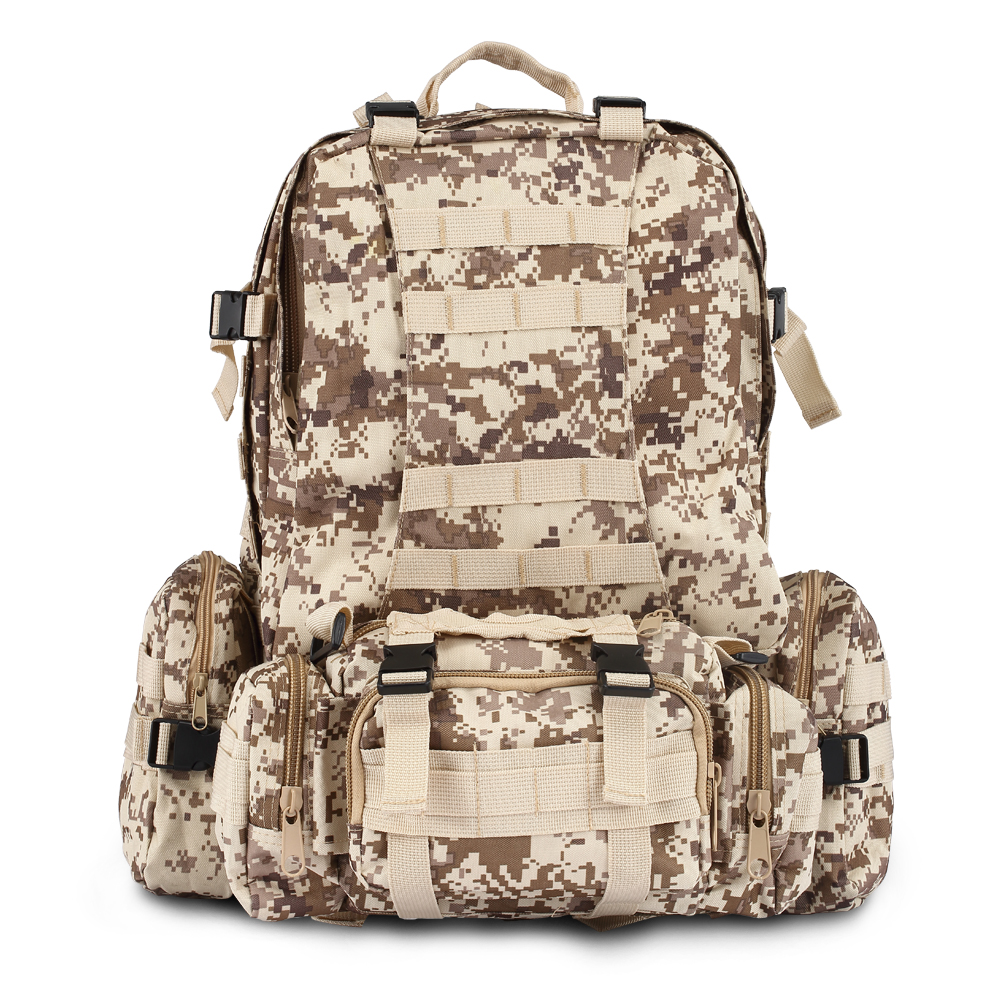 70L Large CAMO Backpack Military Gear Backpack Military Backpack Travel Bagpack Yellow CAMO Black CAMO Backpack