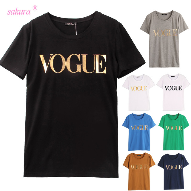 VOGUE Printed T-shirt 8 Colors
