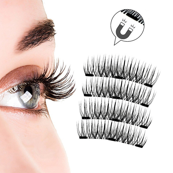 5f21c52ff60 2018 Hot 3D Magnetic False Eyelashes magnets handmade Natural Eyes  MakeupTool Lashes Extension Cosmetics with gift box JLRS