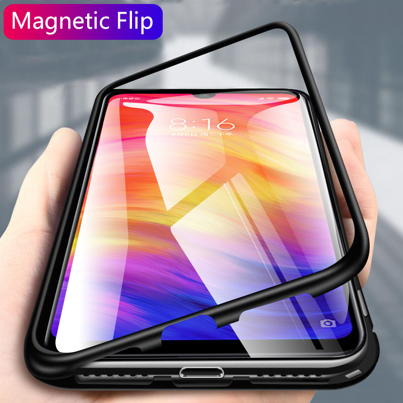Magnetic <font><b>Case</b></font> for Xiaomi <font><b>Redmi</b></font> <font><b>Note</b></font> 7 Adsorption <font><b>Case</b></font> on the for Xiaomi <font><b>Redmi</b></font> <font><b>Note</b></font> 5 <font><b>6</b></font> <font><b>Pro</b></font> Protective Glass Note7 Magnet Shell image