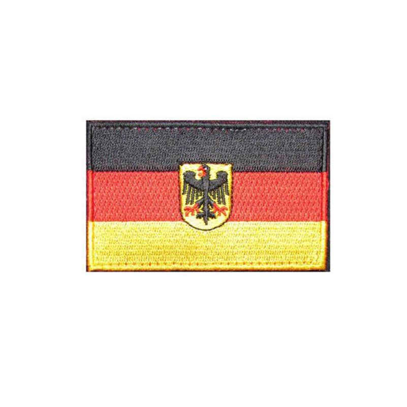6f6bd5d2ada1 Embroidered Germany Flag Patches Army Badge Patch 3D Tactical Military  Patches Fabric Cloth Armband National Flag Badge