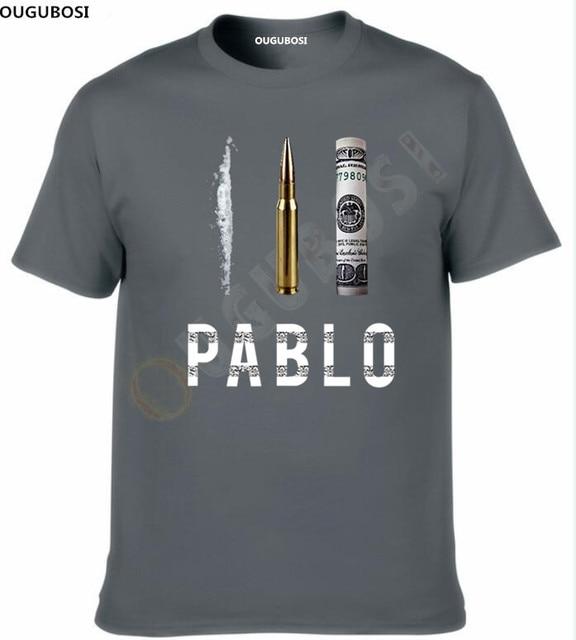 Новая лимитированная футболка Пабло Эскобар доллар футболка «bullet» наркоз Колумбия